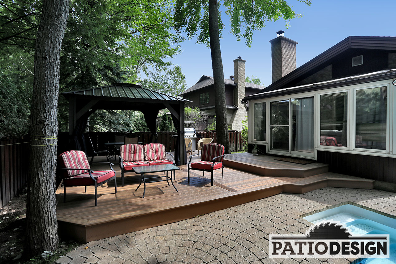 Terrasse Composite Design Patio Design Terrasse En Composite Fiberon