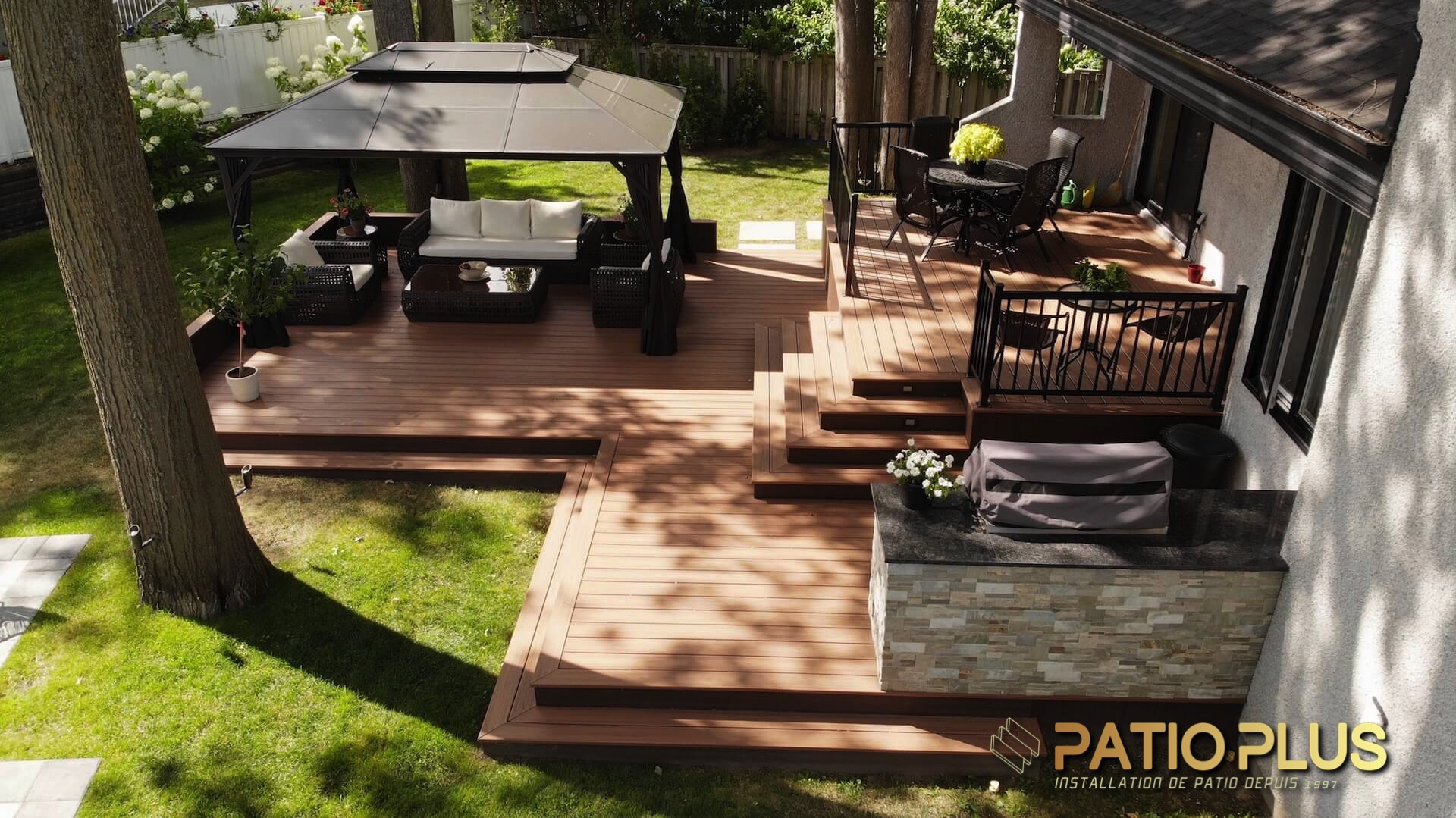 Patio Plus Installation De Patio Trex Timbertech Patio Composite Sans Entretien