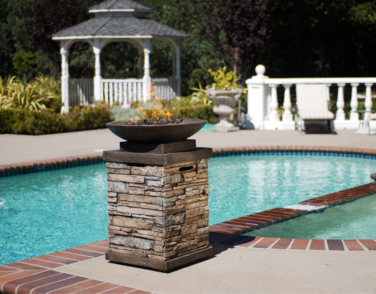 Outdoor Pool Decor Ideas Stunning Ideas For Poolside Fireplaces Patio Productions
