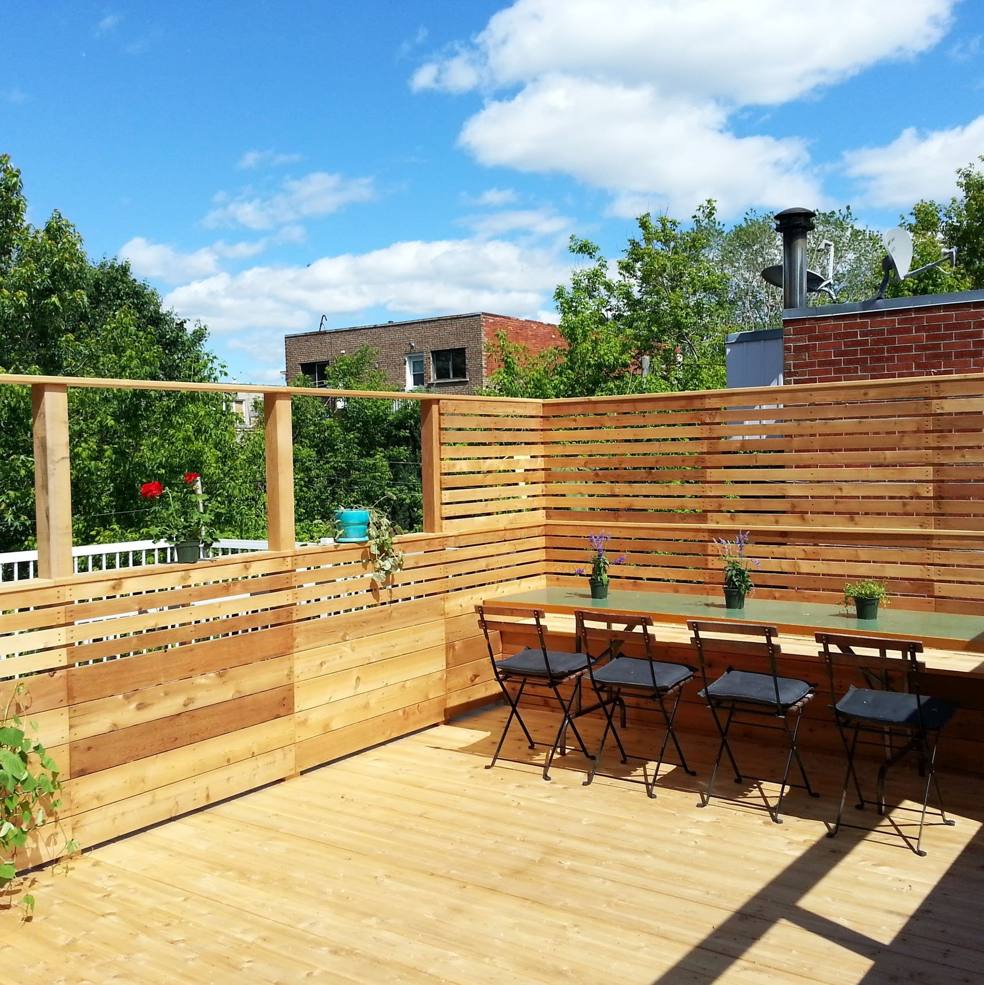 Terrasse Red Cedar A Rooftop Terrace Additional Living Space In Summer