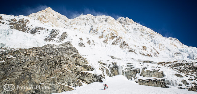 Ueli Steck climbing Annapurna