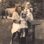 My mother, Sarinda Dranow, my sister Elizabeth (left) and me in the mid-1940s