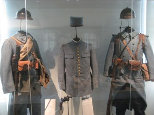 WWI French uniforms at Les Invalides