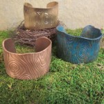 Faux Bois Cuffs from Woodland Chic: Metal Clay Jewelry as Nature Intended by Patrik Kusek