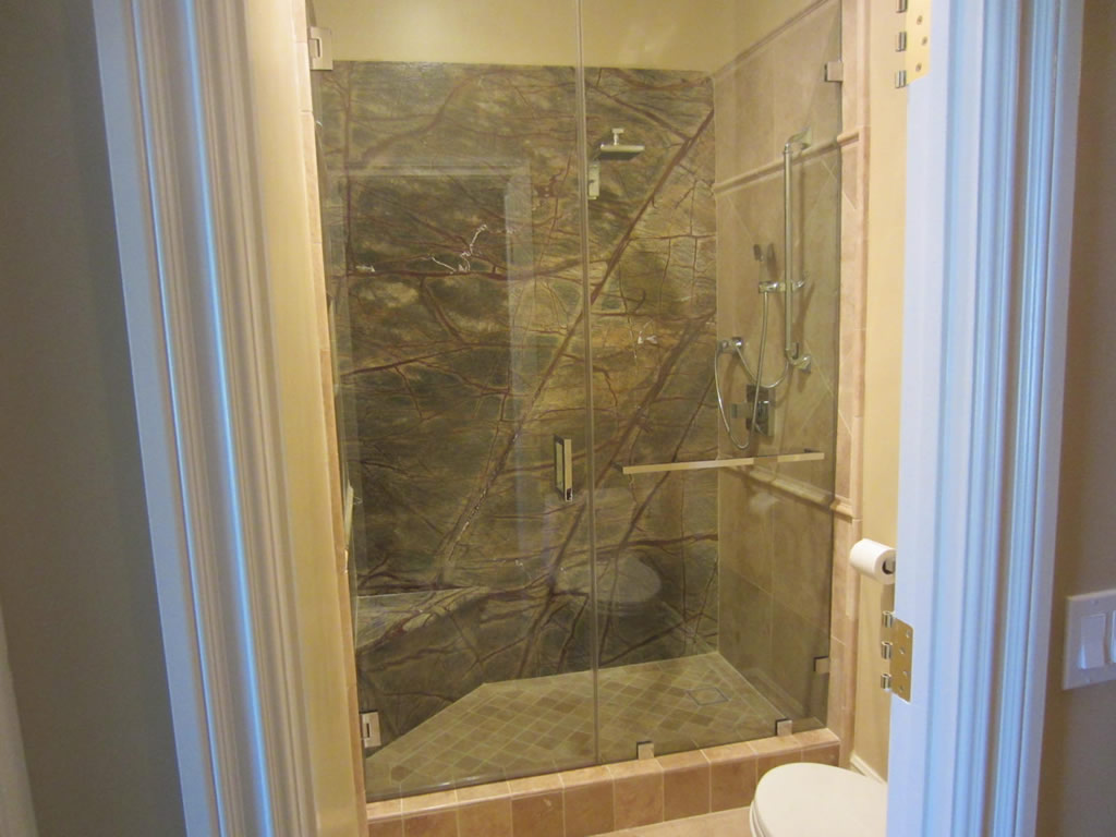 Broken Bathroom Mirror Custom Notched 1 2 Quot Glass Shower Enclosure La Jolla Ca
