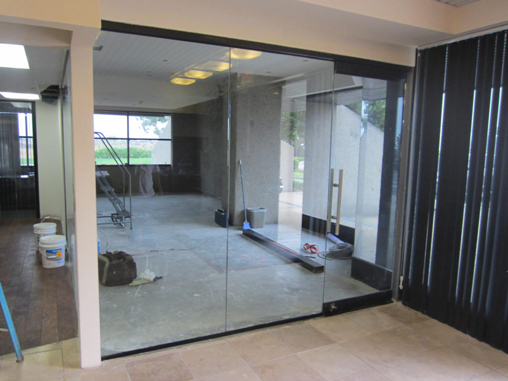 Open Glass Wall Glass Office Wall Installation Patriot Glass And Mirror