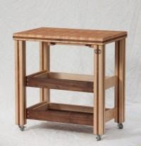 Butcher Block Rolling Table - Patriot Woodcraft