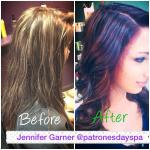 Purple Ombre Hair by Jennifer Garner at Patrones Day Spa