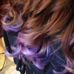 Purple Ombre Hair by Misty Bliven at Patrones Day Spa
