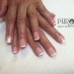 Shoshana Gel Nails Overlay with Shellac French Manicure