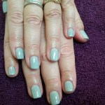 Shellac Holiday Nails Frozen Snowflake Sparkle Tiffany Blue