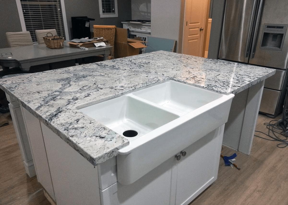 white ice granite kitchen island ice white granite kitchen island