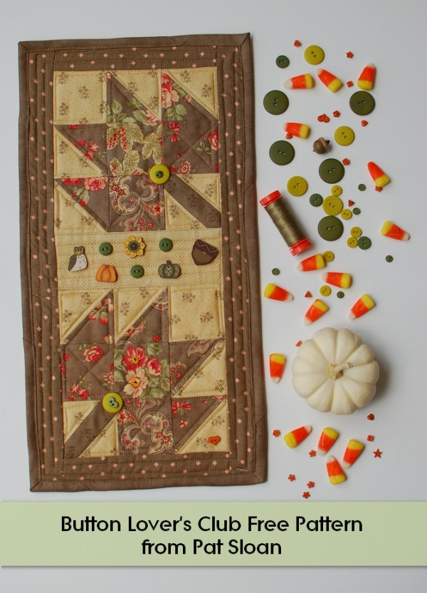 Free Home Designing Online Fall Leaves With The Button Club & My Free Pattern! - Pat