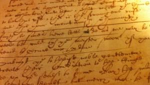 Shakespeare's handwriting?