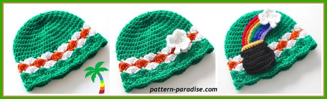 Free Crochet Pattern for Chameleon Hat - Pot 'o Gold for St. Patrick's Day by Pattern Paradise
