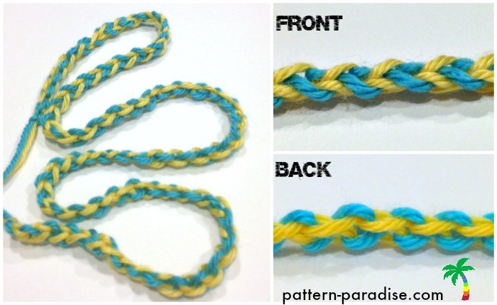 Tutorial: Crochet Cord With Two Colors Pattern Paradise