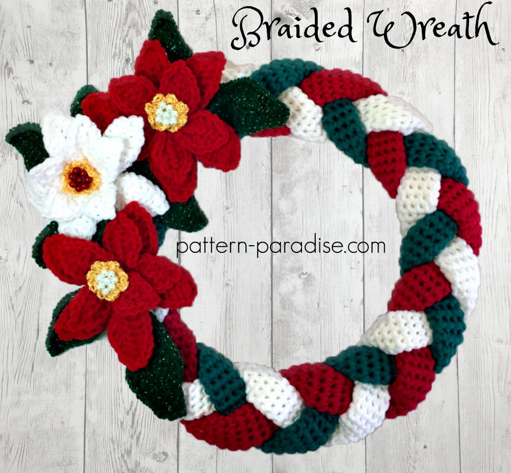 Free Crochet Pattern For Christmas Wreath : Braided Christmas Wreath: #12WeeksChristmasCAL Week 4 ...