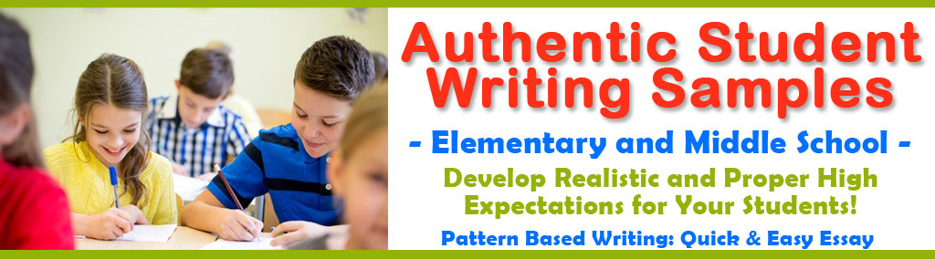 Elementary Writing Samples, Middle School Writing Examples, Sample