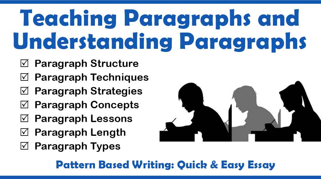 Teaching Paragraphs and Understanding Paragraphs Teaching Writing