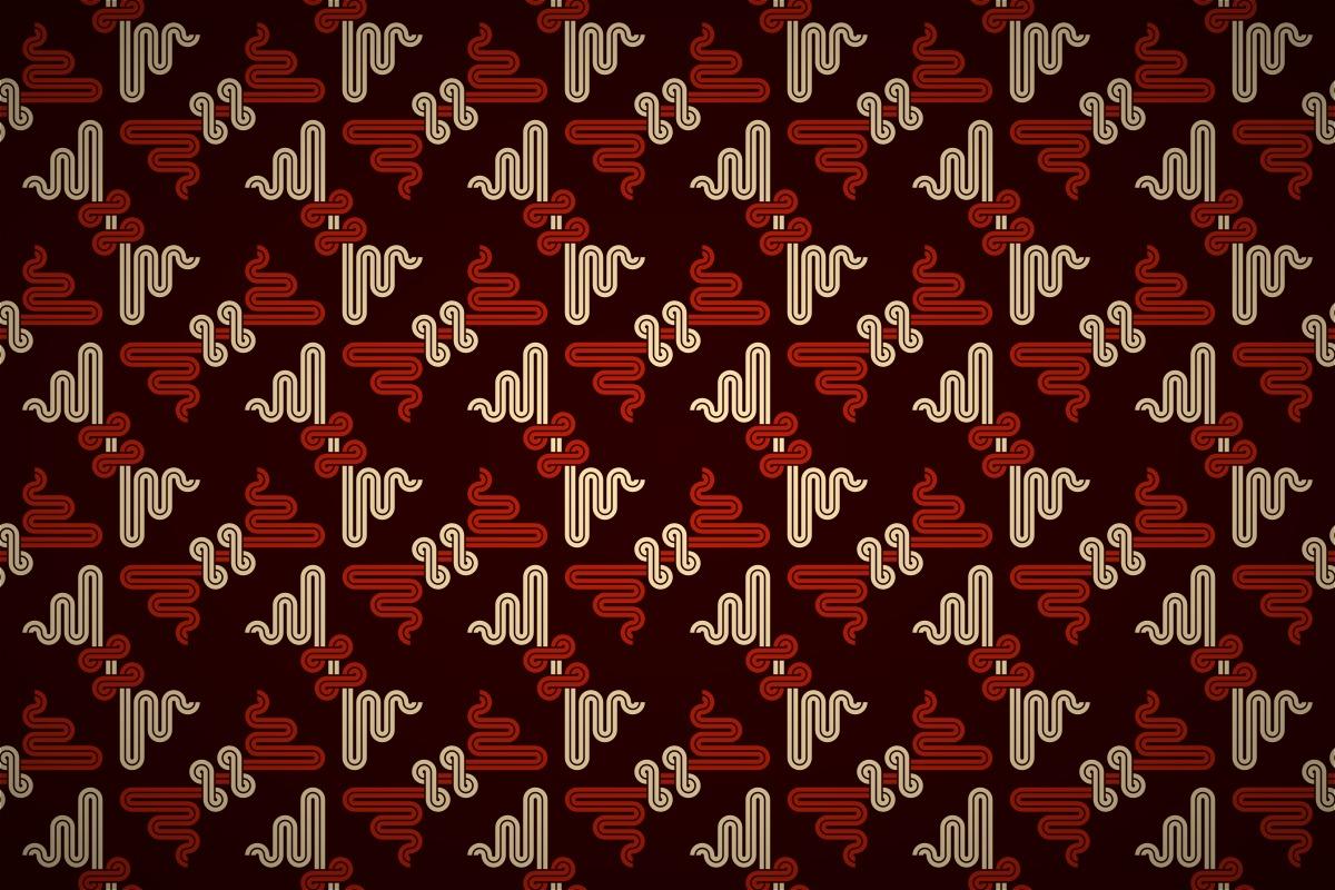 Deco Wallpaper 3d Free Oriental Dragon Motif Wallpaper Patterns