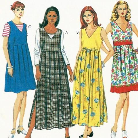Empire Waist Dress Or Jumper Pattern Size Sewing Pattern Jumper