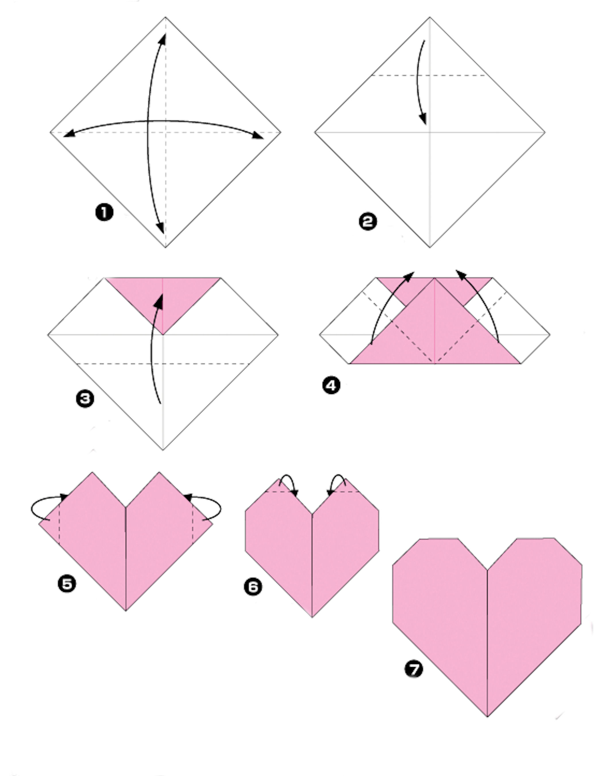 Herz Falten Aus Papier My Origami Heart A True Story Layout Lady Pattern