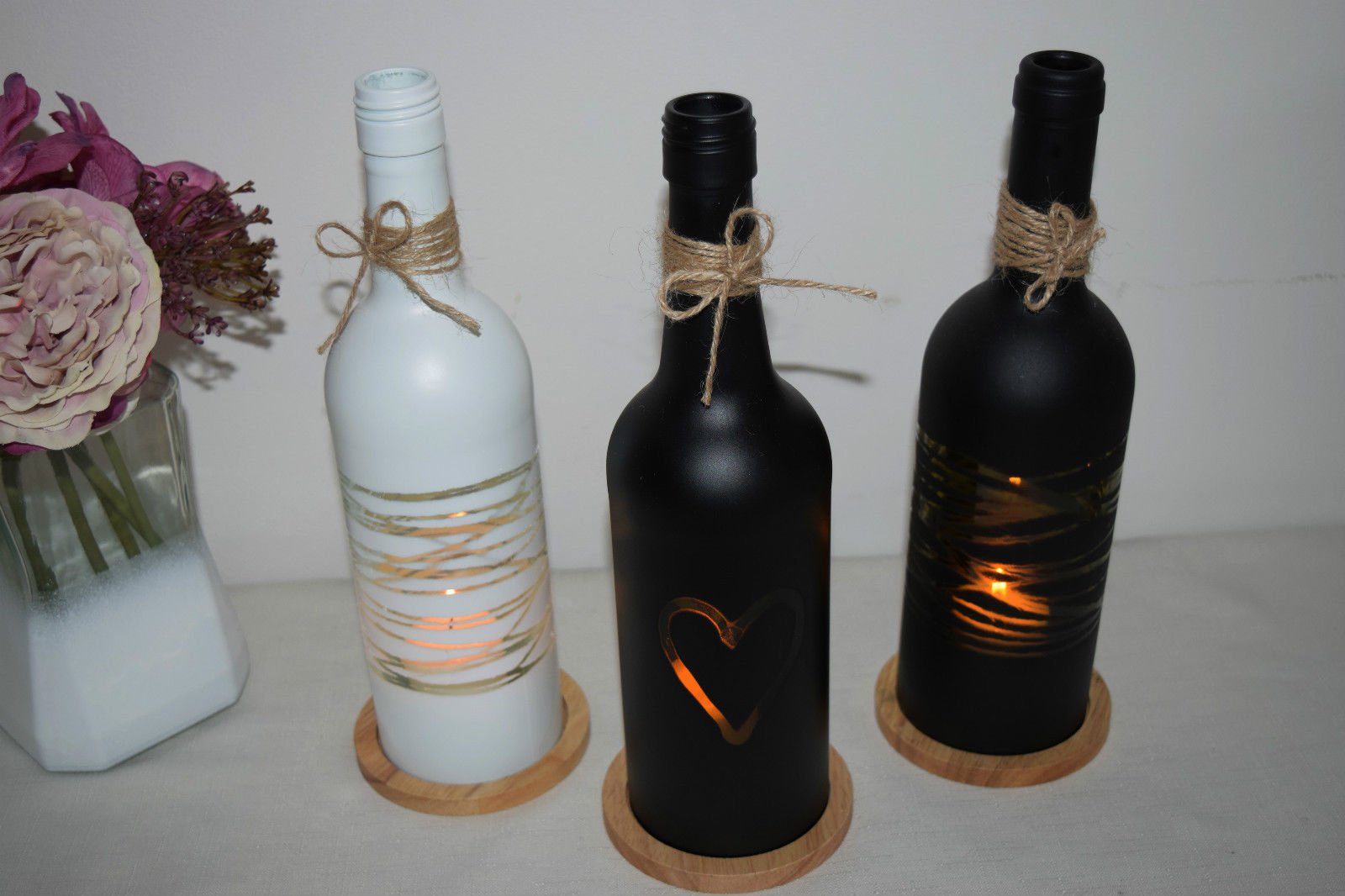 Empty Wine Bottle Holder 27 Ideas On How To Make Wine Bottle Candle Holders
