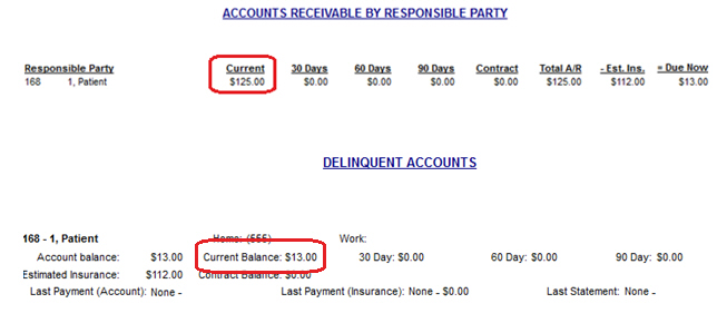 Accounts Receivable by Responsible Party Report not Matching