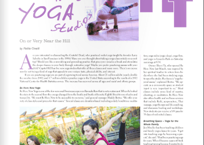 Article: New Yoga Studios