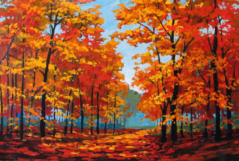 Fall Wallpaper Road Fine Art By Patty Baker Original And Commissioned