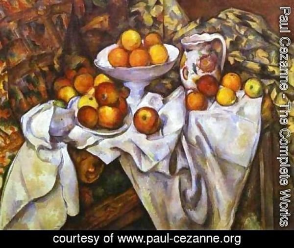 Mini Rideau Paul Cezanne - The Complete Works - Still Life With Fruit