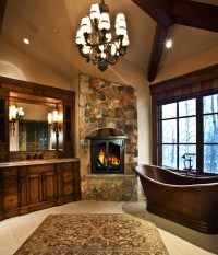Elegant Fireplaces for Luxury Master Bathrooms