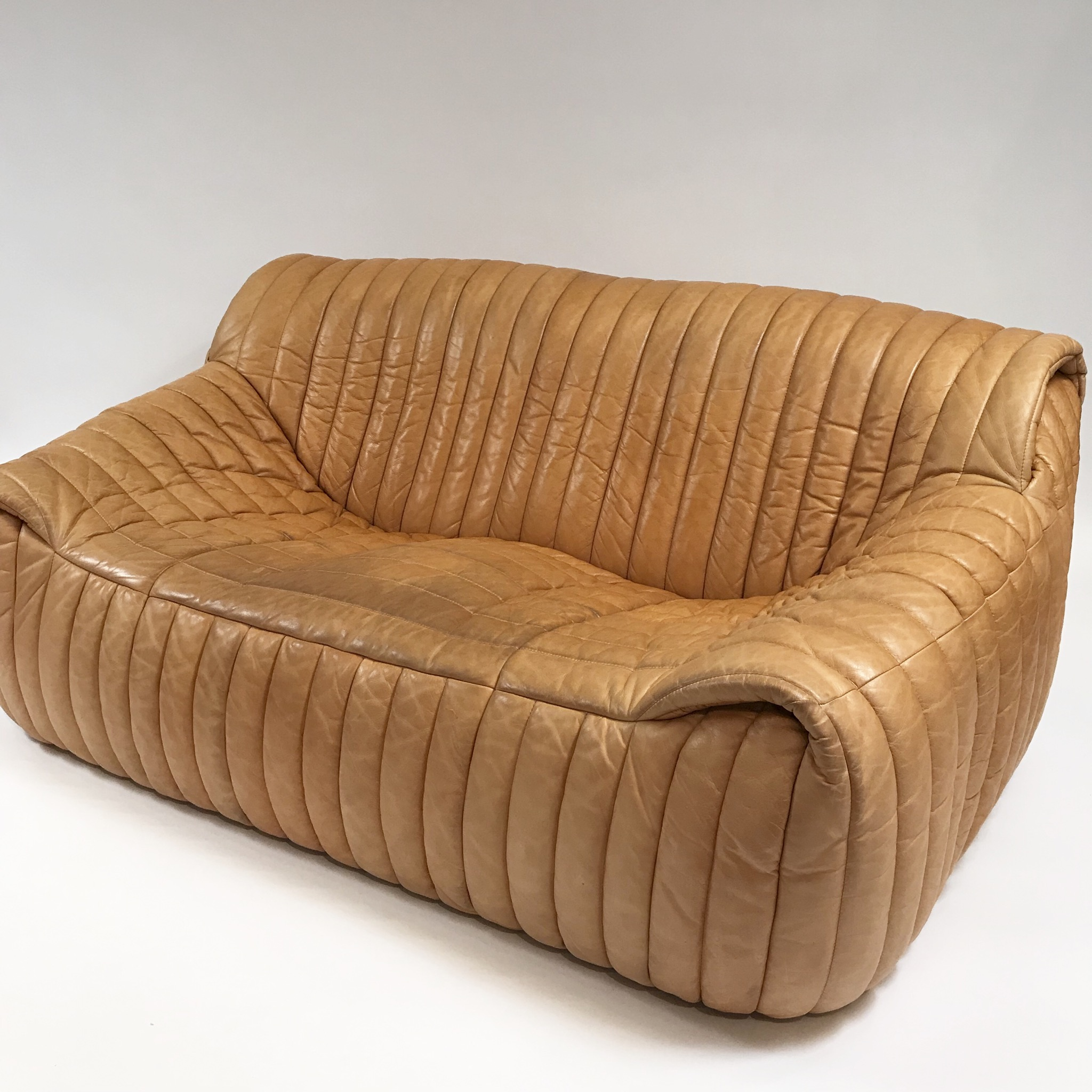 Canapé Cuir Cinna Cinna Leather Sofa Circa 1970 Paul Bert Serpette
