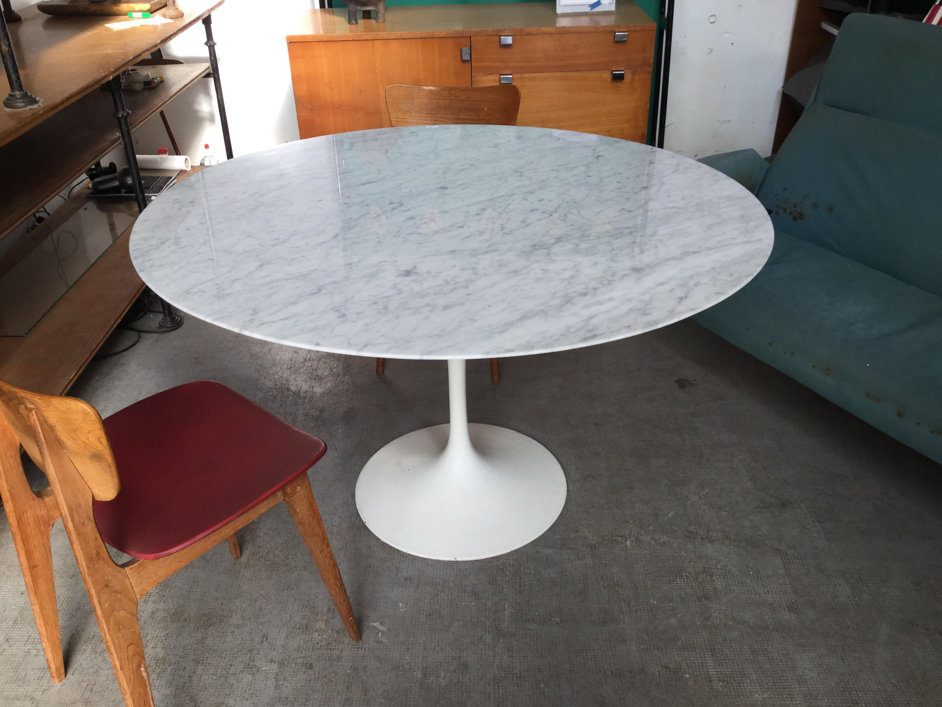 Table Marbre Knoll Saarinen Dining Table Produced By Knoll Paul Bert Serpette