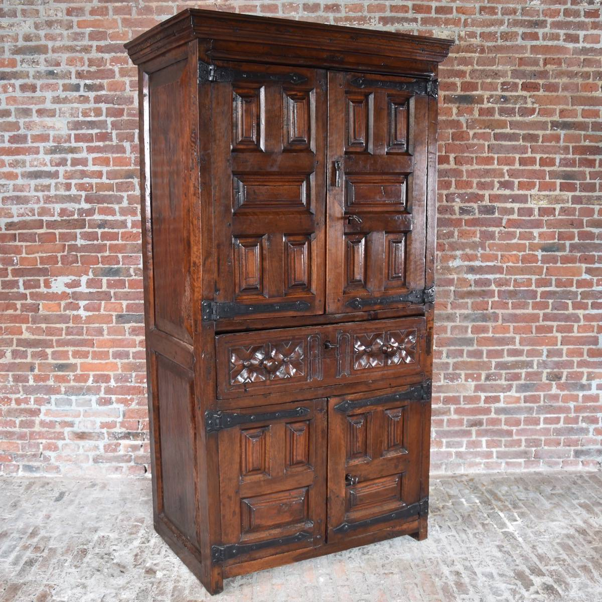 Antique European Kitchen Cabinets South European Walnut 4 Door Cabinet