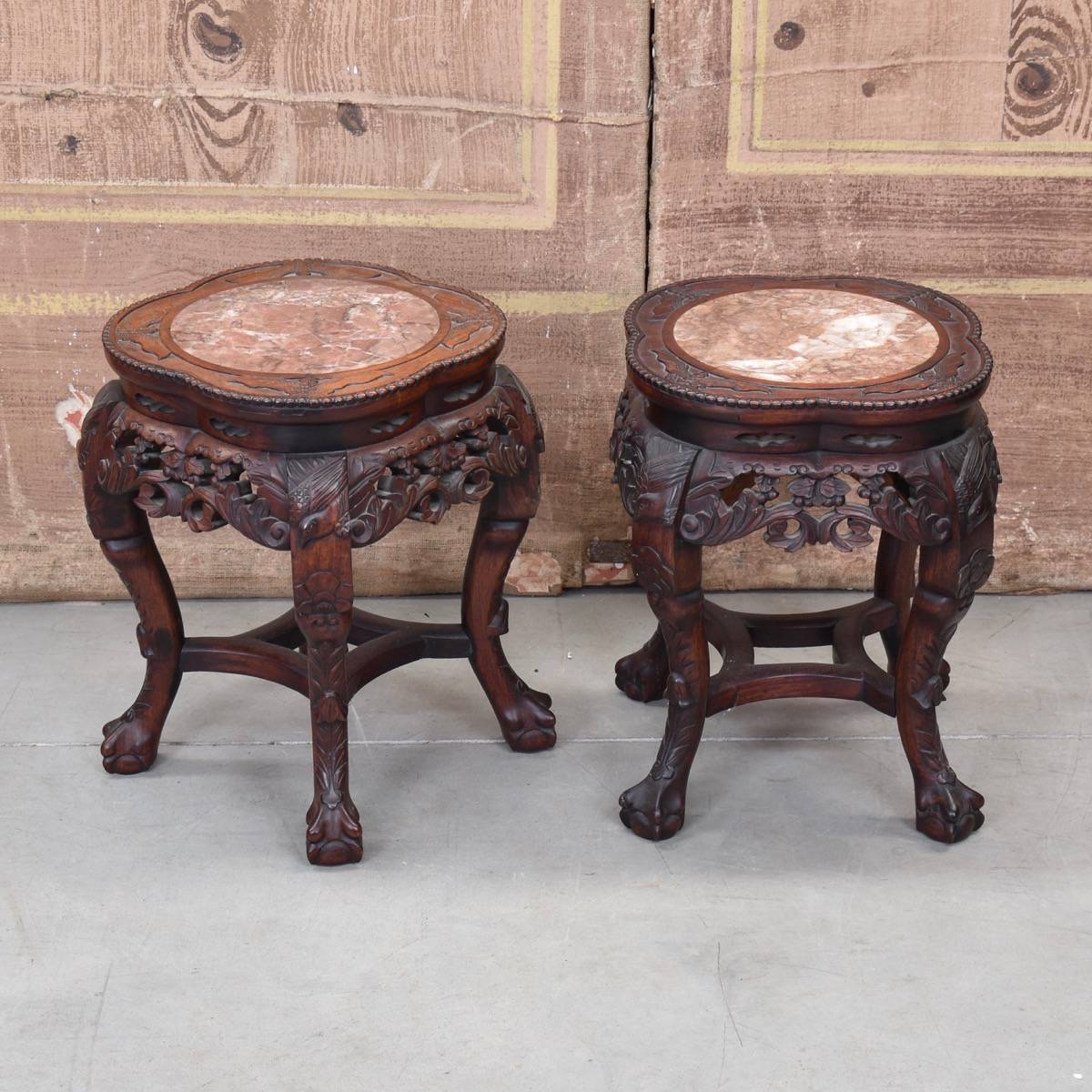 Antique Furniture Belgium Table Pair Degrande1