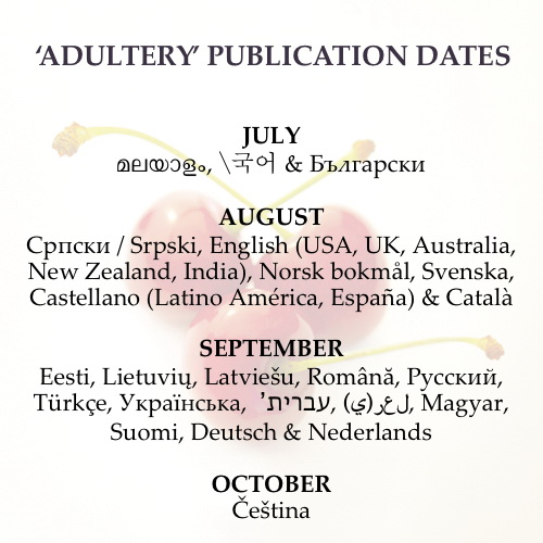 Adultery publication dates