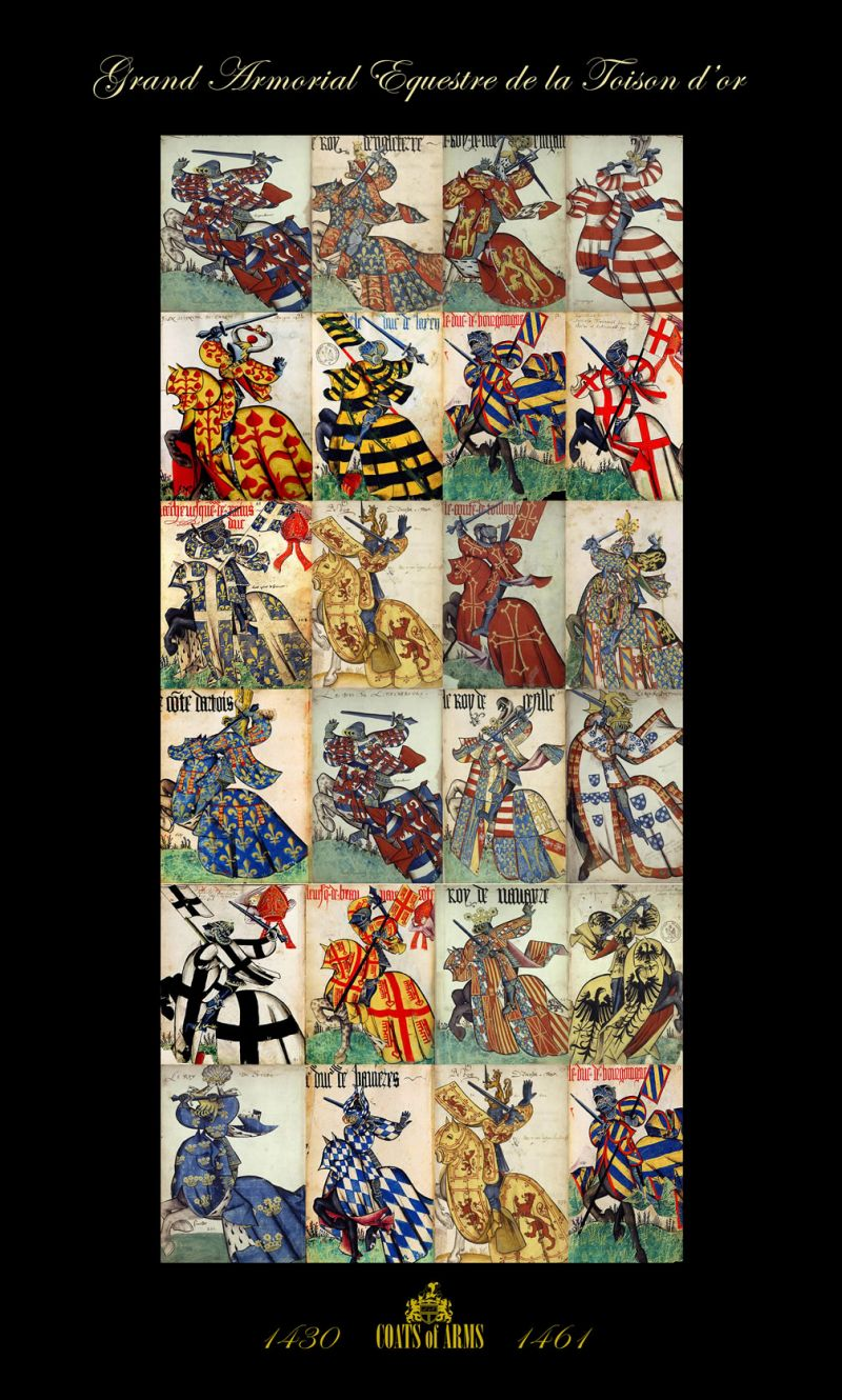 Poster Reproduction Tableau Reproduction De Grand Armorial Pareo