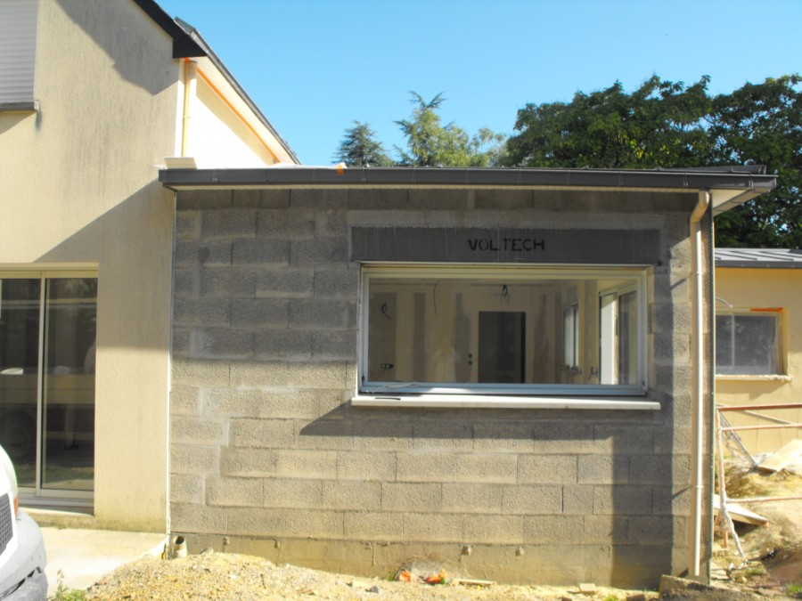 Toit Plat Maison Bois Extention - Paul Pichard