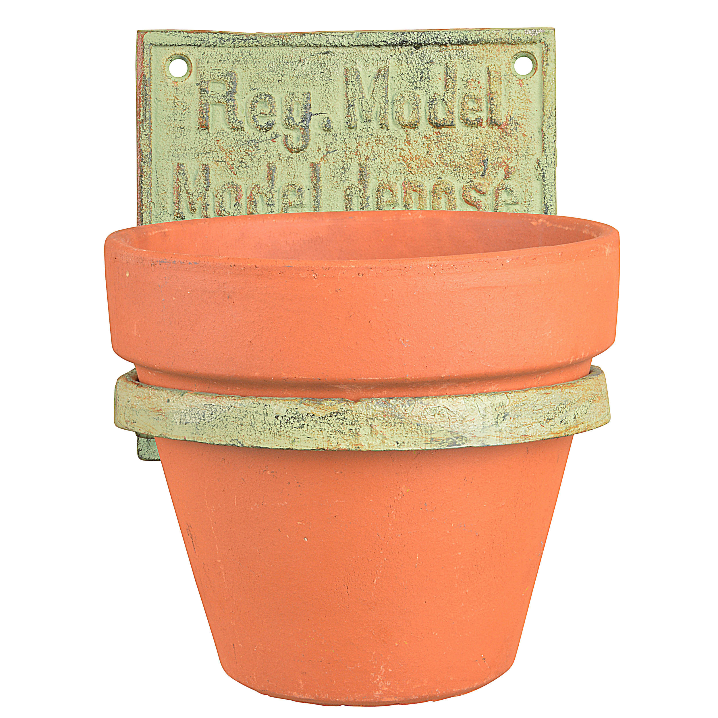 Wall Mounted Pots Quot Flower Pot Holder Industrial Quot Cast Iron Cup Holders