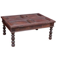 Repurposed Teak Coffee Table made from Antique Shutters ...