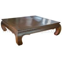Large Thai Teak Coffee Table with Opium Table Legs (Kha ...