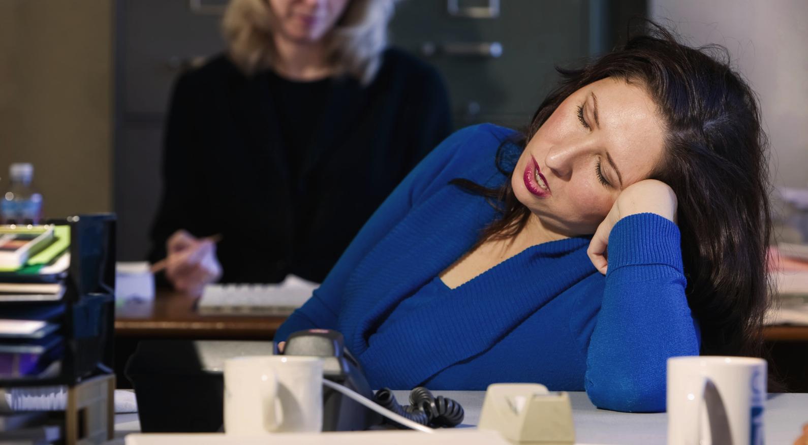 falling asleep at work