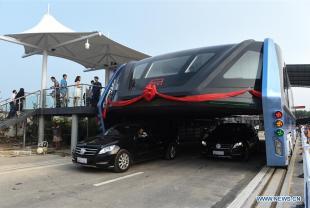 Transit Elevated Bus China 3
