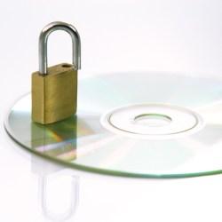 padlock on a cd drive