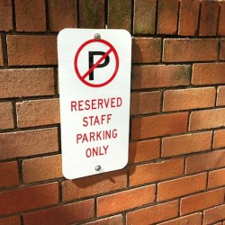 management parking giving priority over customers