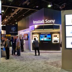Sony display at CEDIA conference
