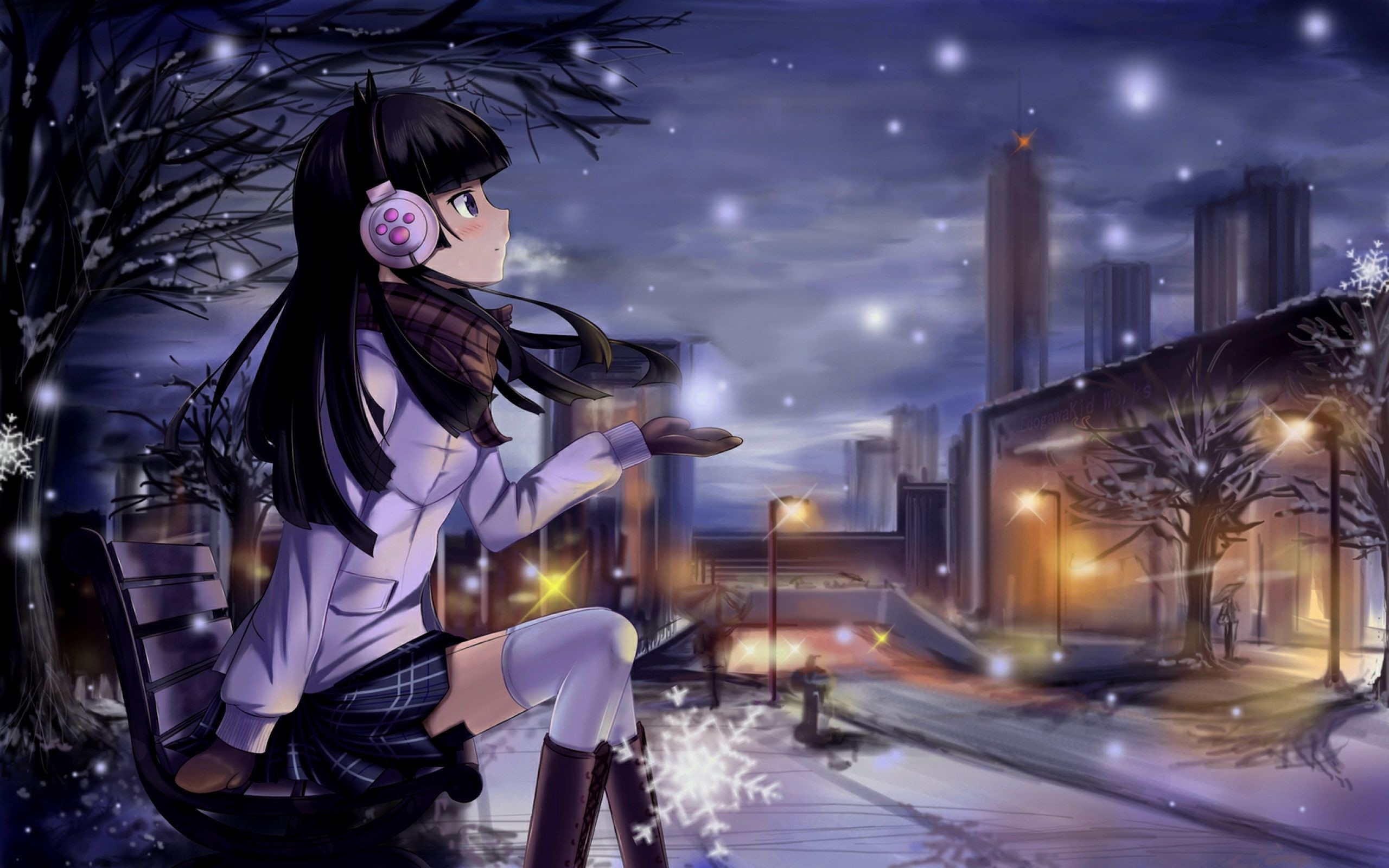 Beautiful Cartoon Girl Wallpaper Beautiful Anime Wallpapers 76 Background Pictures