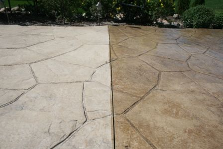 Stamped Concrete Patio Cleaning Sealing In St Charles