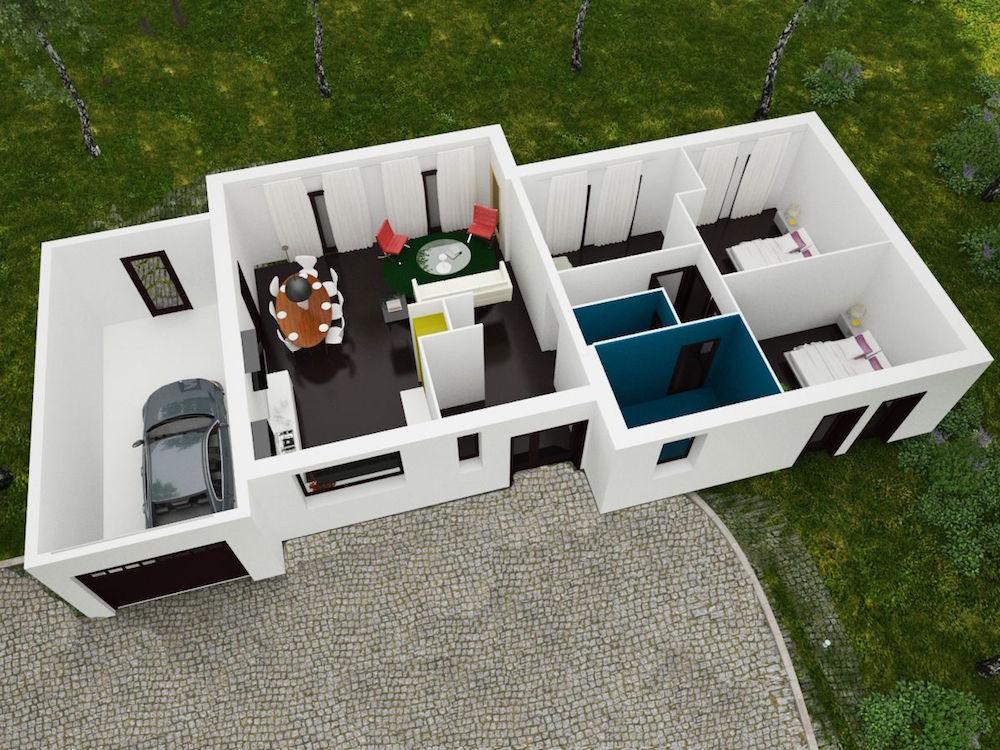 Plan Maison Moderne Sur Petite Terrain | Plan De Maison : Maison ...